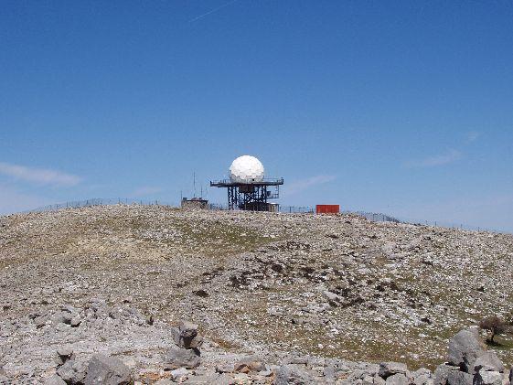 "На вершине горы ""Атавирос"" установлен радар"