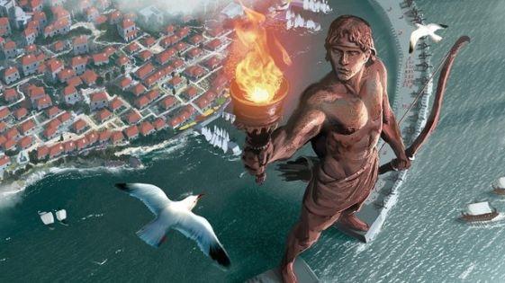 Факела в руке Колосса скорее всего не было