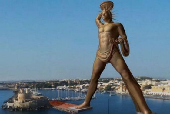 Говорят, что статую Колосса Родосского восстановят, а выглядеть она будет вот так..